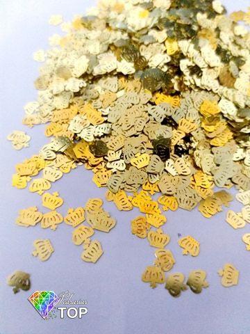 Metal para decoração corôa c/ 50 unidades