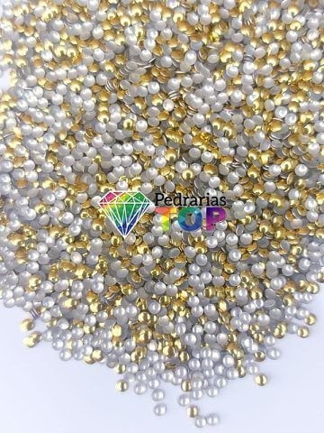 Chapinha dourada 2mm - Aprox. 500 pçs