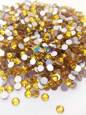 Cristal swarovski dourado 5mm - 30 pçs