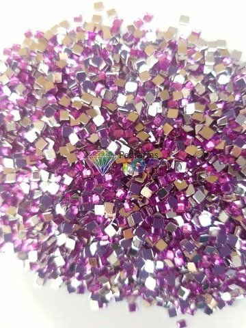 Quadradinho lilás 3mm - Aprox. 100 pçs