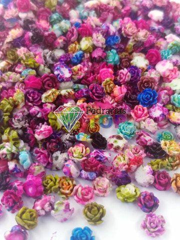 Flor luxo 3d mix 6mm - 10 pçs