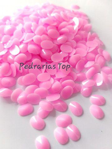 Chaton oval rivoli rosa 6x8 - Aprox. 50 pçs