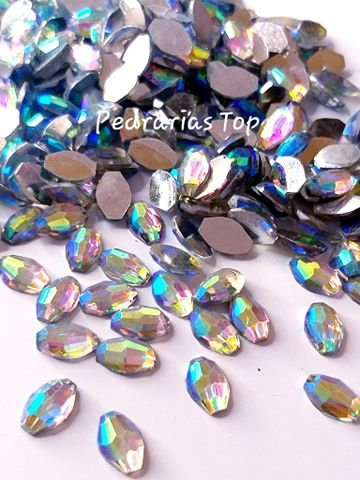 Pedra abalone furta cor 6x8 - 30 pçs