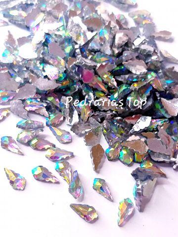 Pedra luxo folha furta cor 6x8 - 30 pçs