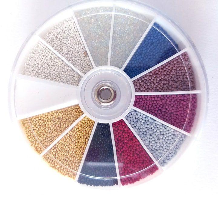 Disco caviar cores variadas - Aprox. 100 gramas