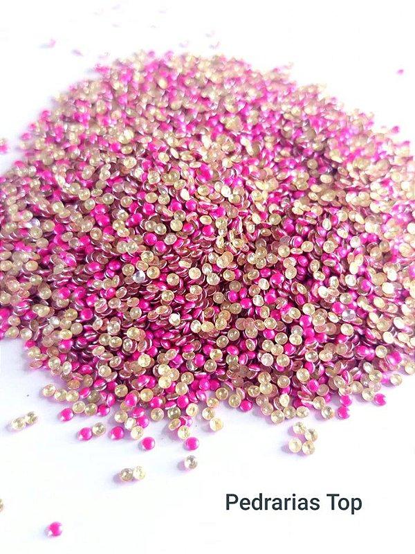 Dome pink fluor 1.5mm - Aprox. 500 pçc