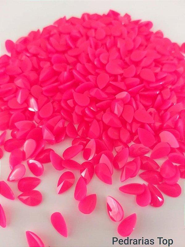 Gota rivoli pink 5x8 - Aprox. 50 pçs