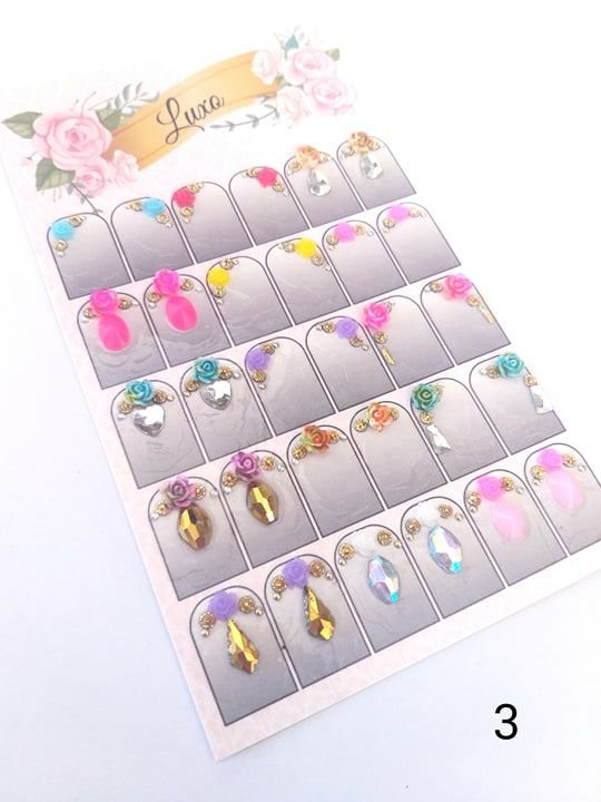 Cartelão de jóias prontas c/15 pares - Ref. 03