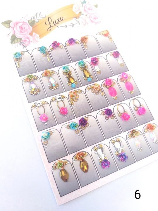 Cartelão de jóias prontas c/15 pares - Ref. 06