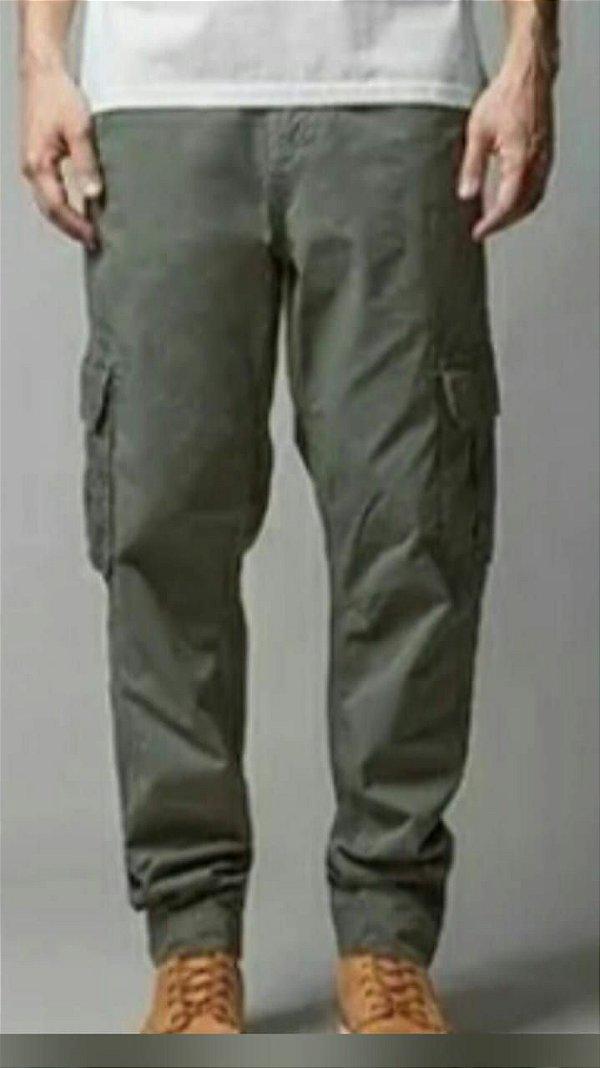 kit 10 calças cargo 6 bolsos