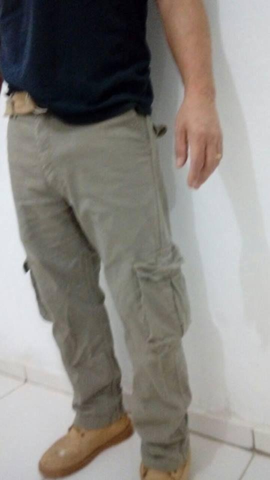 kit 3 calcas cargo 6 bolsos
