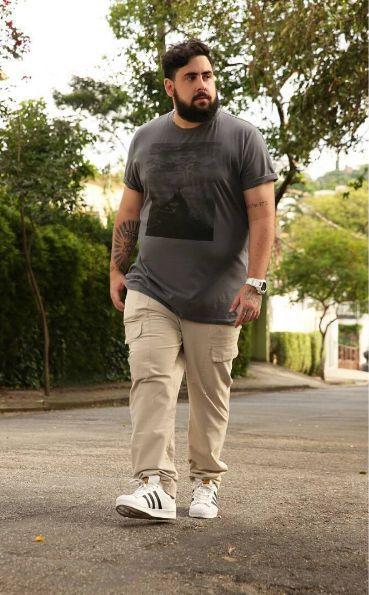 calça cargo preta 6 bolsos em brim