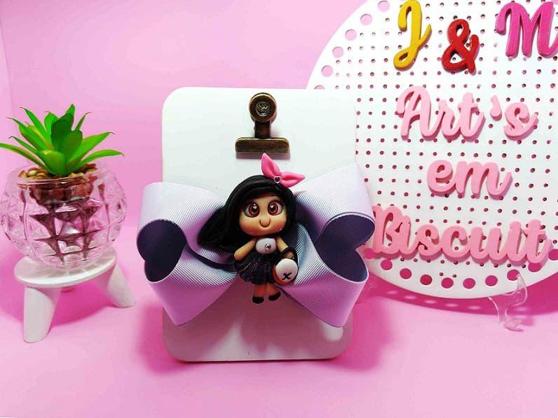 Aplique para Laço Blogueirinha Chanel de Biscuit