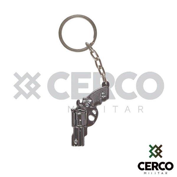 Chaveiro Revolver 38 Com Tambor Giratório - Grafite