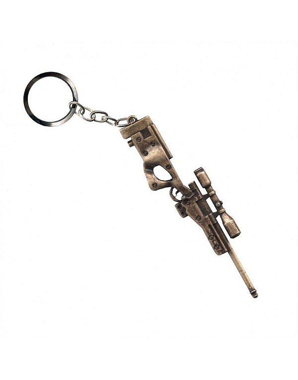 Chaveiro Sniper - Dourado