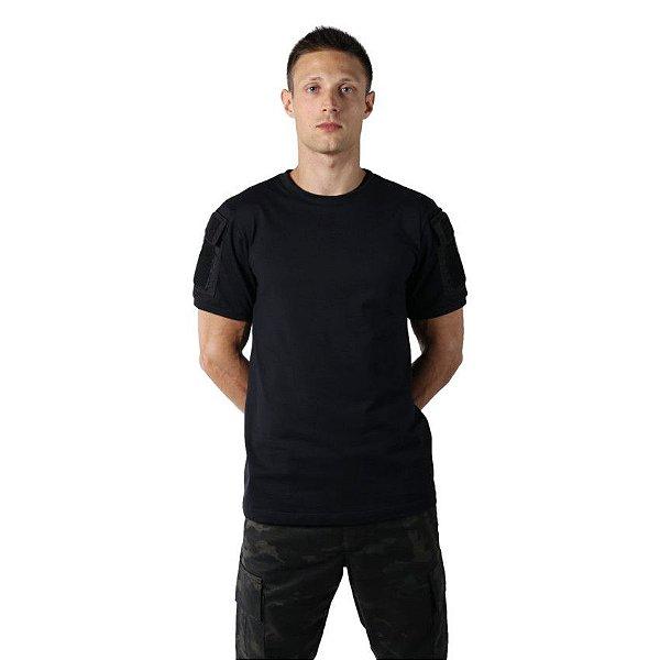 Camiseta T Shirt Tática Ranger Masculina Preta