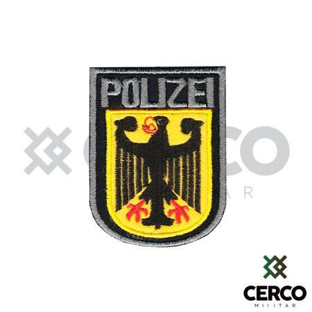 Bordado Termocolante Polizei - Colorido
