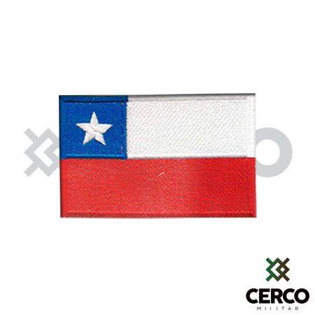 Bordado Termocolante Bandeira do Chile