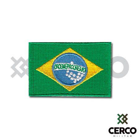 Bordado Termocolante Bandeira do Brasil