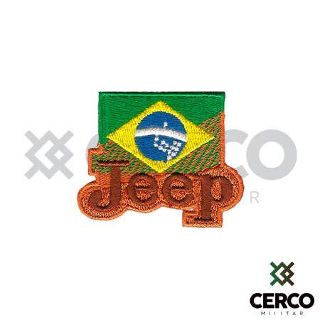 Bordado Termocolante Jeep Brasil
