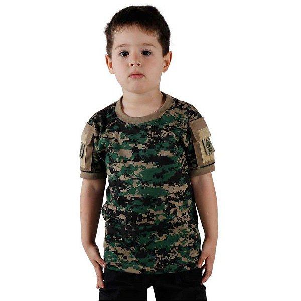 Camiseta T Shirt Ranger Infantil Digital Marpat