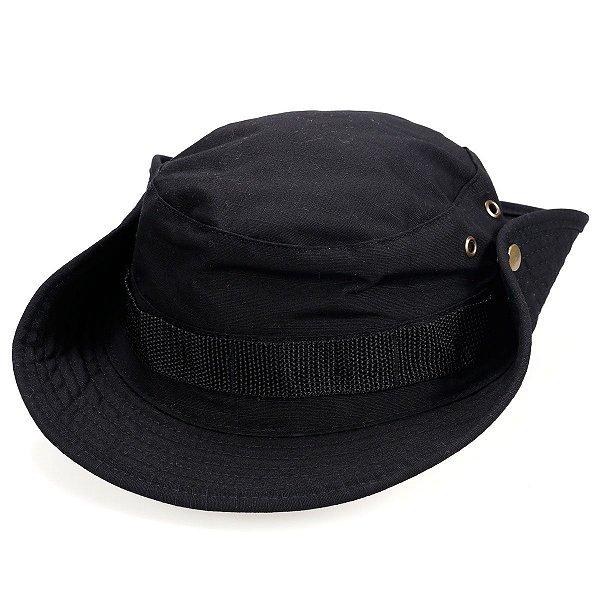 Chapéu Boonie Hat Camuflado Preto