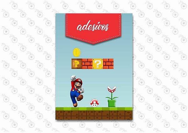 Livro com Adesivos - Mario Bross - 13 x 18cm