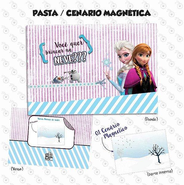 Pasta Cenário Magnética - Frozen