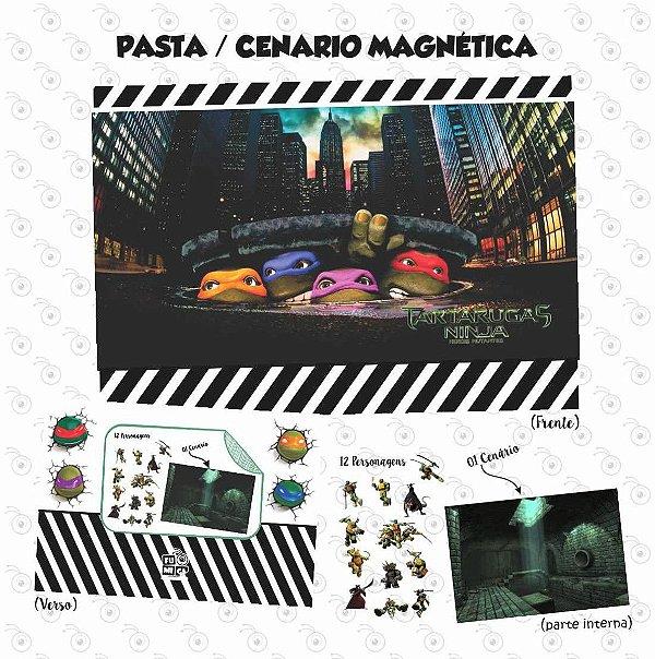 Pasta Cenário Magnética - Tartaruga Ninja