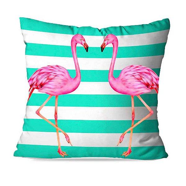 Almofada flamingo listras