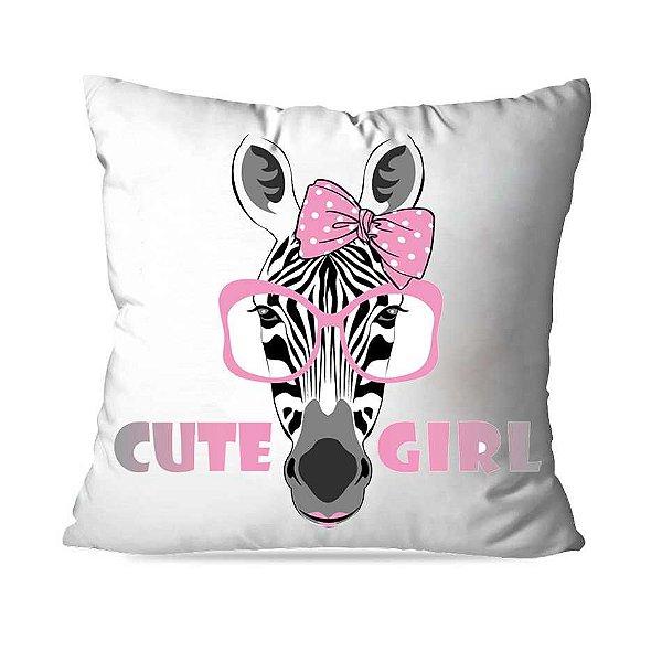 Almofada zebra rosa cute