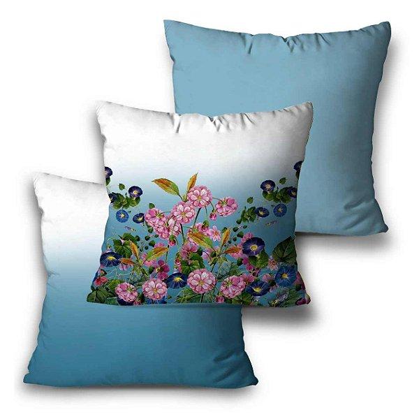 kit 3 almofadas flores degradê