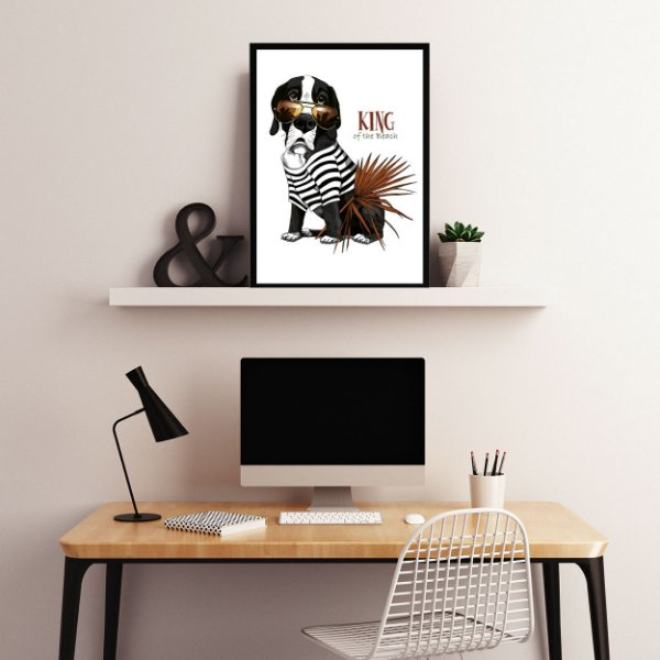 Quadro decorativo dogs