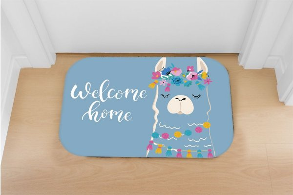 Tapete decorativo welcome