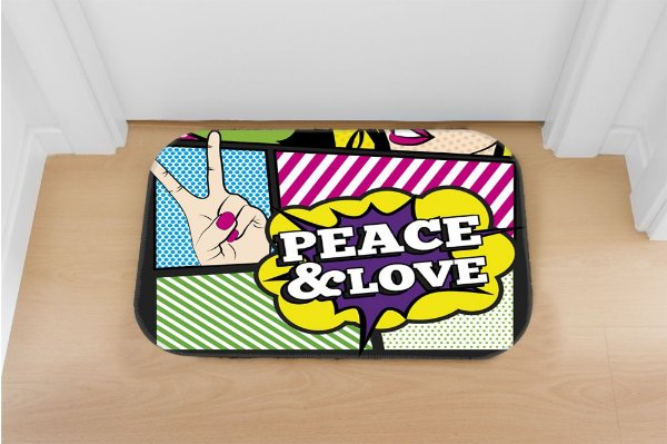 Tapete decorativo Peace