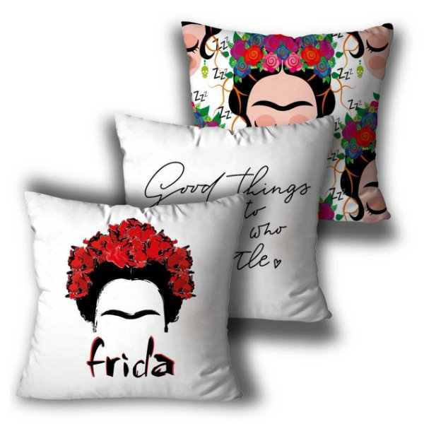 Kit 3 almofadas Frida Kahlo