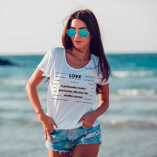 Camiseta T-shirt Feminina love