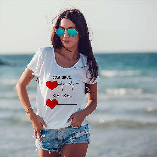Camiseta T-shirt Feminina com ele
