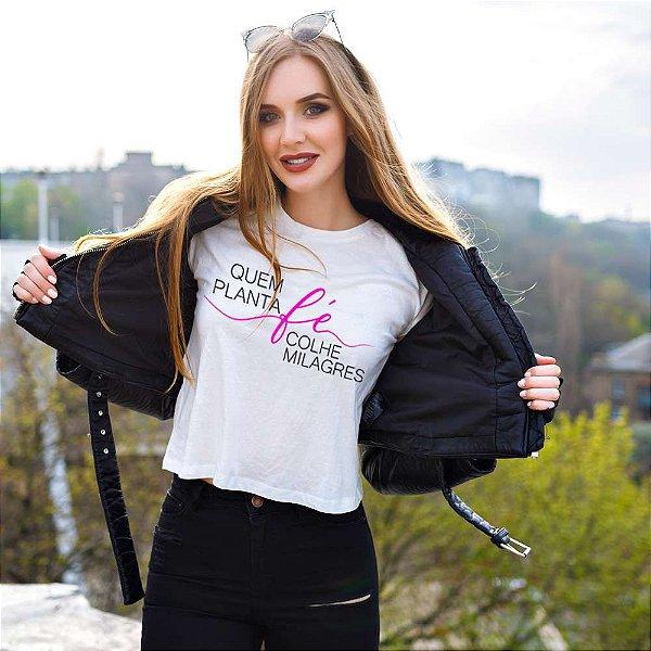 Camiseta T-shirt Feminina milagres