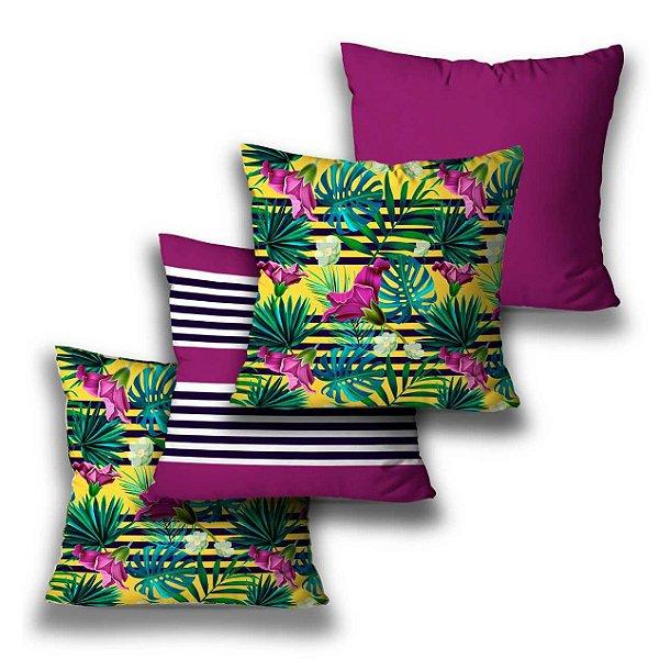 kit 4 almofadas Tropical