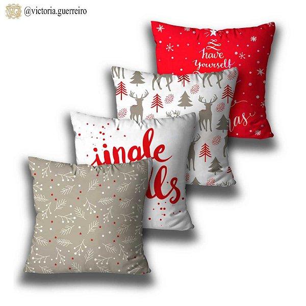 kit 4 almofadas Jingle Bells