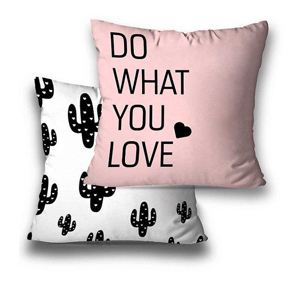 kit 2 almofadas Cactos Love