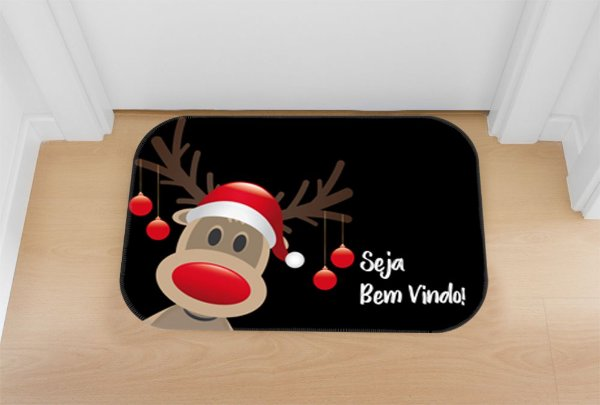 Tapete decorativo Rena de Natal