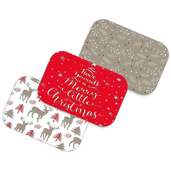 Kit 3 tapetes decorativos Natal 2018