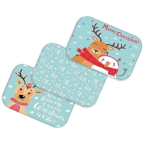 Kit 3 tapetes decorativos Natal 01