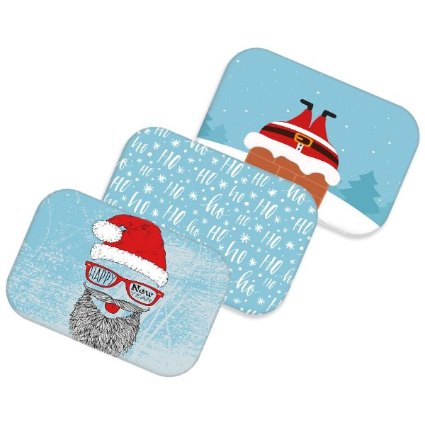 Kit 3 tapetes decorativos Natal 06