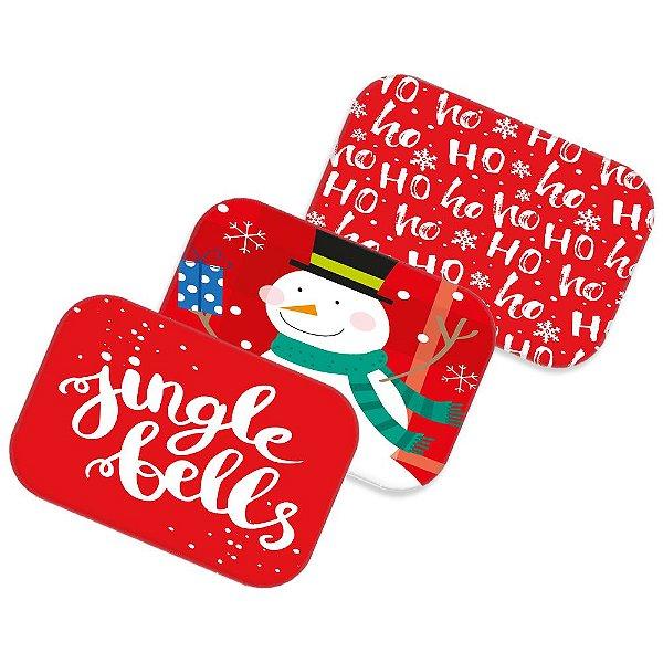 Kit 3 tapetes decorativos Natal 09