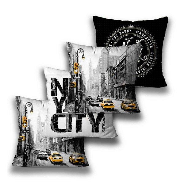 Kit 4 almofadas New York