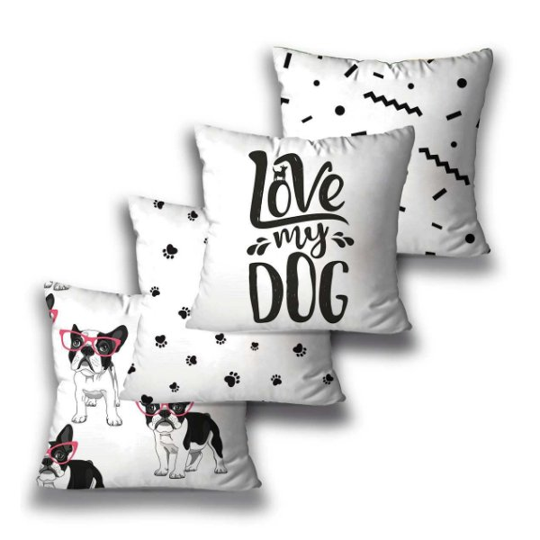 Kit 4 almofadas Love Dog