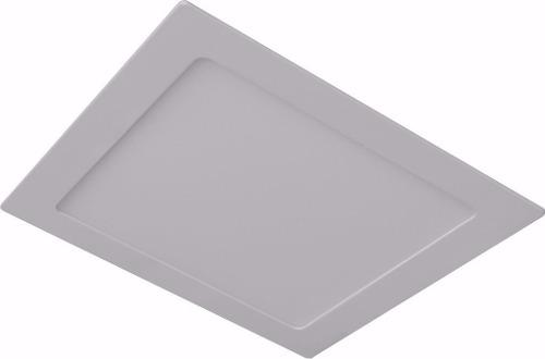 Kit 10 Plafon LED Luminária Quadrado Embutir 12w 17x17 Branco Frio 6000k